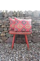 Early 20th Century, Antique Swedish Woven Textile, Geometric Patterned 're-stuffed cushions' (6 of 20)
