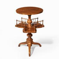 Victorian Walnut Revolving Book Table