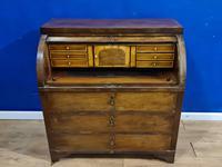 Biedermeir Mahogany Veneered Cylinder Bureau Desk 19th Century (12 of 14)