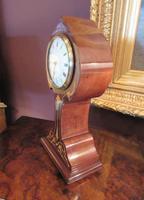 Antique Art Nouveau Inlaid Mantel Clock (5 of 7)