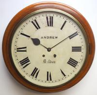 Antique Original Dial Wall Clock Rare Striking Station Public Dial Wall Clock
