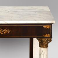 A Mahogany Console Table with Marble Top (4 of 5)