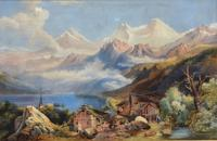 Lovely 19th Century Italian Landscape Watercolour. (4 of 4)