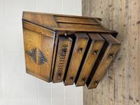 Mid 20th Century Art Deco Style Oak Bureau (4 of 15)