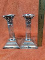 A Pair of Antique Sterling Silver Hallmarked 1895 Candle Sticks (2 of 12)