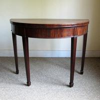 Mahogany Demi-Lune Card Table (5 of 5)