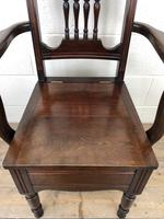 Antique Edwardian Mahogany Commode Armchair (5 of 9)