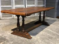 French Oak Farmhouse Refectory Dining Table (6 of 20)
