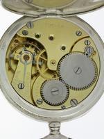 Silver 0.800 Omega Open Face Pocket Watch Swiss 1900 (6 of 7)