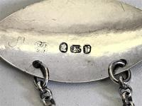A Fine 18th Century Silver Sherry Decanter Label (4 of 4)