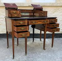 Maple & Co - Stunning Edwardian Marquetry Rosewood Library Writing Table Desk (2 of 15)