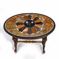 Victorian Walnut & Pietra Dura Table (4 of 16)