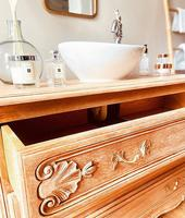 French Antique Style Washstand / Vanity / with Basin Sink (8 of 8)