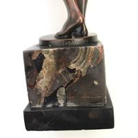 A Good Art Deco Bronze Nude Maiden with Drinking Bowl by Eugene Wagner C.1920 (11 of 11)