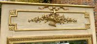 French Painted & Gilded Trumeau Mirror (5 of 6)