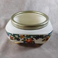 "Art Deco ""Flosmaron"" Regent EPNS Rimmed Fruit Bowl & Biscuit Barrel (2 of 5)"