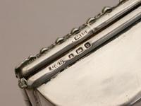 Edwardian Silver Triple Compartment Trough Shaped Stamp Box by Levi & Salaman, Birmingham 1901 (4 of 12)