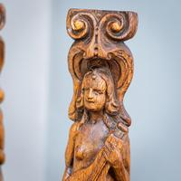 Pair of Bird & Lute Carved Figures (4 of 9)