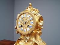 Louis XV Style Ormolu Mantel Clock by Raingo, Paris (8 of 16)