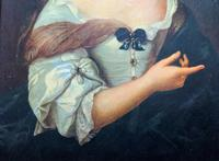 Wonderful 20thc Oil Portrait Painting of Lady In 17th Century Dress (3 of 11)