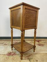 Antique French Bedside Cabinets Marble Tops Walnut Pot Cupboards (12 of 12)
