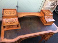 Inlaid Satinwood Carlton House Desk By Maple & Co (6 of 16)