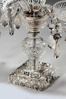 Pair of Late Regency Cut Glass Candelabra (6 of 6)