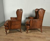 Antique Pair of Leather Chesterfield Wing Chairs (2 of 5)