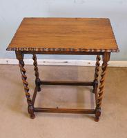 Antique Oak Barley Twist Occasional Table (5 of 5)
