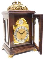 Stunning Burr Walnut Basket Top Bracket Clock by Charles Frodsham Clock Makers to The King (12 of 12)