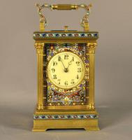 Champleve Repeating Carriage Clock - With original case (4 of 6)