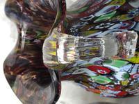 2 Italian Murano 20th Century Fratelli & Torso Millefiori Glass Vases (13 of 15)
