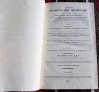 1825 A Critical Pronouncing Dictionary & Expositer  of the English Language  by John Walker (2 of 5)