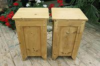 Cute & Quality Old Stripped Pine Bedside Cabinets (9 of 9)