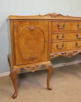 Burr Walnut Queen Anne Style Shaped Sideboard (8 of 13)