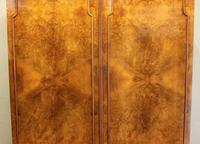 Burr Walnut Dome Top Double Hanging Wardrobe (5 of 9)