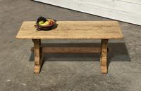 Great Rustic French Bleached Oak Coffee Table (2 of 25)
