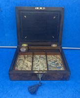 Victorian Burr Walnut Writing Box c.1870 (10 of 14)