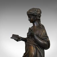 Antique Bronze Figure, French, Female, After Moreau c.1920 (5 of 12)