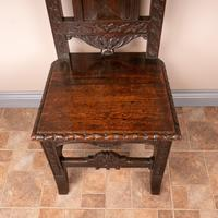 Carved Oak High Backed Side Chair (4 of 9)