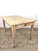 Antique Pine Farmhouse Kitchen Table (3 of 10)