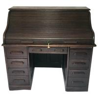 Original Edwardian Globe Wernicke Oak Roll Top Desk (13 of 13)