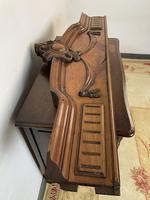 Antique French Pediment Walnut Panel Architectural Salvage Ceil De Lit (6 of 9)