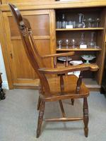 Pair of Elm Carver Chairs (3 of 8)