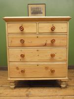 Large Antique Victorian Stripped Pine Chest of Drawers (6 of 14)