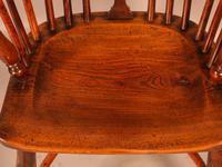 Yew Wood Low Back Windsor Chair Rockley Maker (6 of 10)