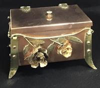 Arts and Crafts Copper and Brass Trinket Box (2 of 7)