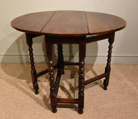 Late 17th Century Elm Drop Leaf Table (2 of 5)