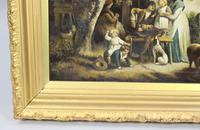 Pair of Early 19th Century Country Genre Scenes Oil on Canvas (17 of 21)