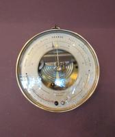 Antique Bronze Cased Twin Thermometer Marine Barometer (5 of 5)